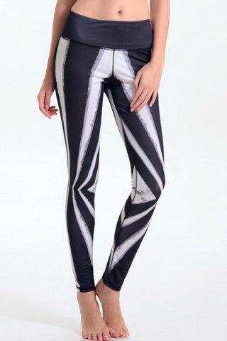 Hot Women's Stylish Elastic Waist Hit Color Leggings