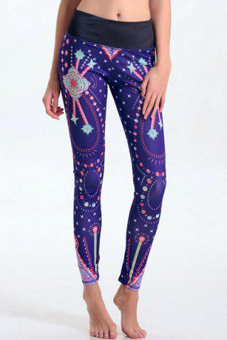 Outfit Women's Stylish Elastic Waist Colorful Print Leggings