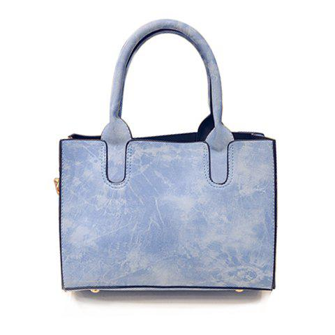 Buy Ladylike Solid Colour PU Leather Design Tote Bag Women