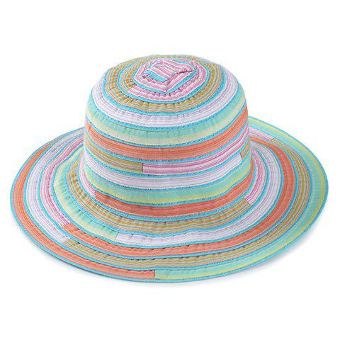 Store Chic Multicolor Stripe Pattern Bucket Hat For Women - MINT GREEN  Mobile