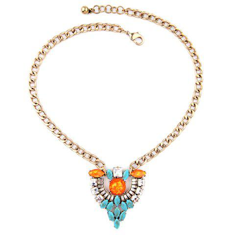 Affordable Graceful Faux Turquoise Hollow Out Necklace For Women