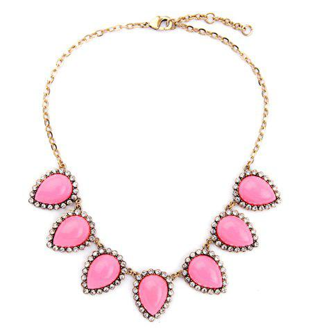 Outfit Vintage Rhinestone Water Drop Necklace For Women