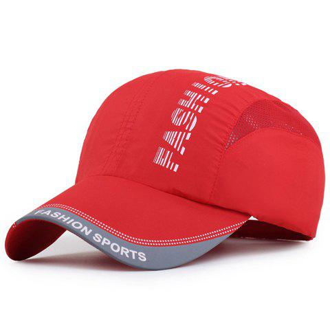 Chic Trendy Striped Letters Pattern Breathable Mesh Sport Baseball Cap