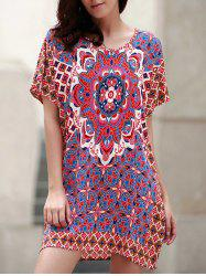 Shift Floral Print Boho Tunic Dress