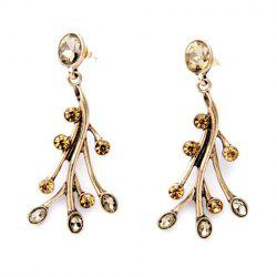 Pair of Vintage Faux Crystal Branch Earrings -