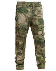 Outdoor Men's Camouflage Pockets Training Pants - CAMOUFLAGE S