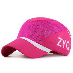 Trendy Capital Letter and Stripe Pattern Breathable Mesh Baseball Cap -
