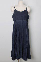 Elegant Cami Tank High-Waisted Pleated Dress For Women -