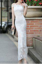 Strapless Lace Off Shoulder Mermaid Prom Wedding Dress -