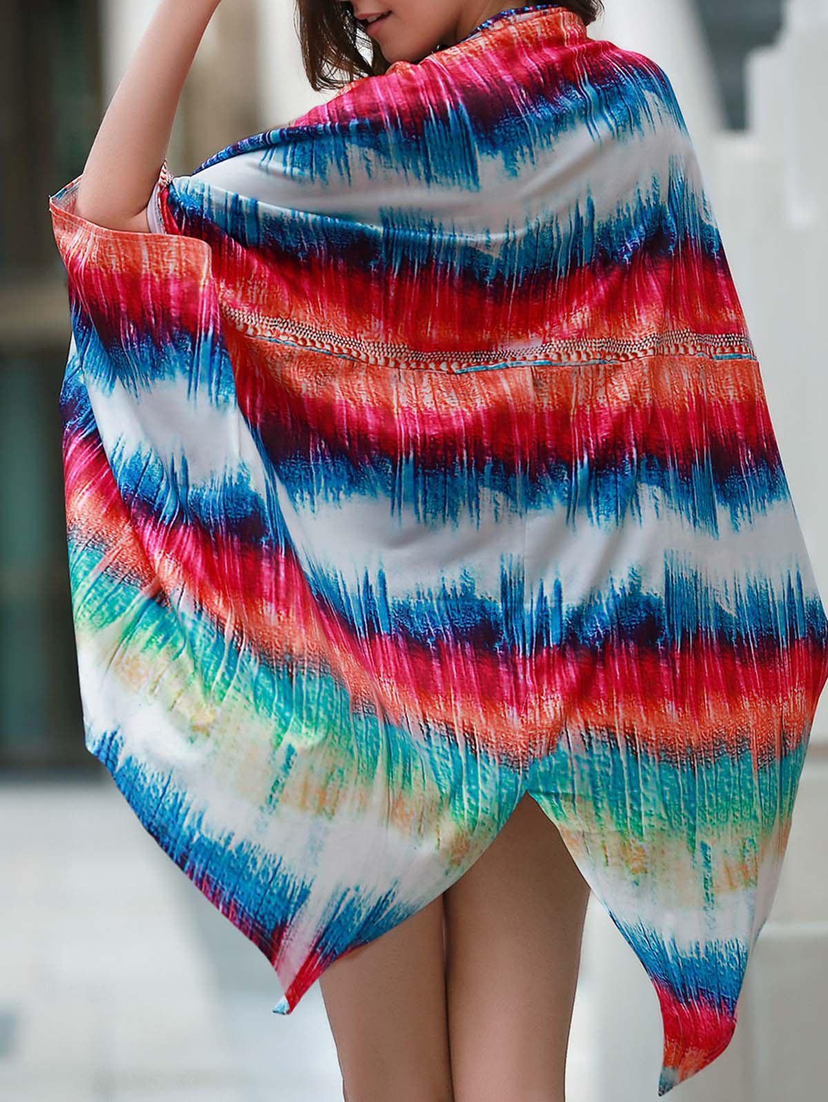 Buy Colorful Beach Kimono Cover Up