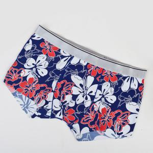 Elastic Waist Flowers Pattern Comfortable Boxer Brief For Men -
