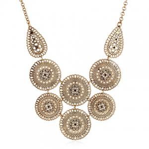 Retro Round Hollow Out Necklace - COPPER COLOR