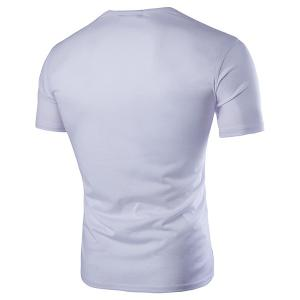 3D Octopus and Guitar Print Round Neck Short Sleeve T-Shirt For Men -