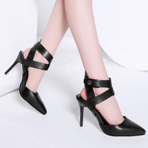 Elegant Ankle Wrap and Pointed Toe Design Sandals For Women -