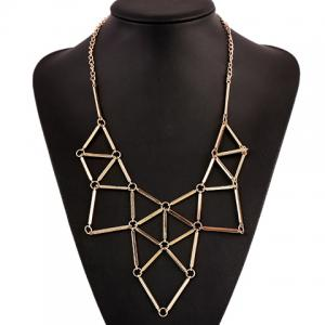 Retro Spliced Geometry Necklace