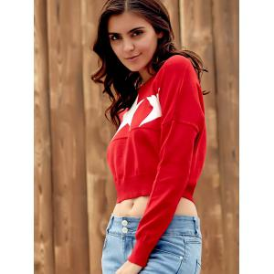 Endearing Long Sleeve Star Printed Pullover Cropped Sweater For Women -