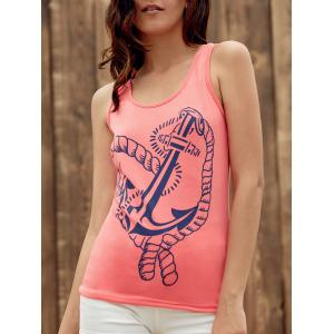 Anchor Print Graphic Tank Top