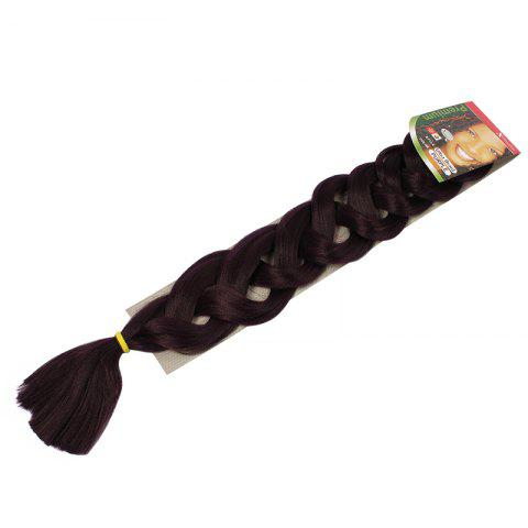 New Stylish Solid Color Heat Resistant Fiber Jumbo Braided Hair Extension For Women