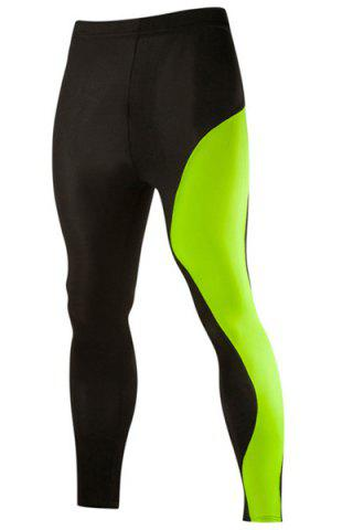 Elastic Waist Low Rise Sports Pants - Neon Green - 2xl