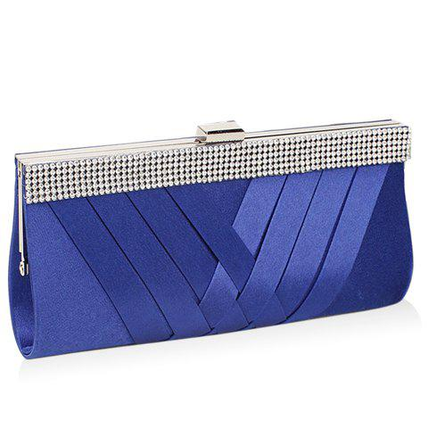 Online Gorgeous Weaving and Clip Closure Design Evening Bag For Women