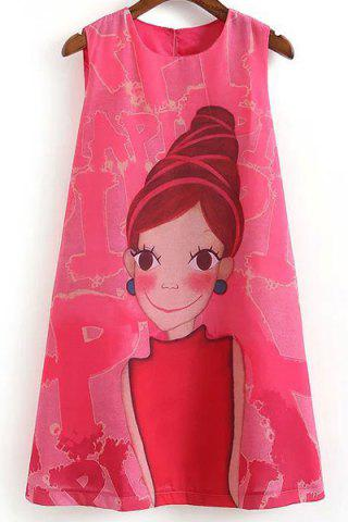 Sale Cartoon Print Casual SleevelessDress