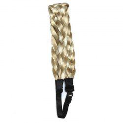 Fashion Long Synthetic Hand Made Weaving Braided Hair Extension For Women - COLORMIX