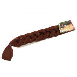 Stylish Solid Color Heat Resistant Fiber Jumbo Braided Hair Extension For Women - DEEP BROWN