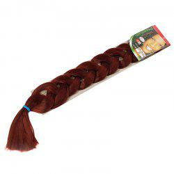 Stylish Solid Color Heat Resistant Fiber Jumbo Braided Hair Extension For Women - DEEP RED #35