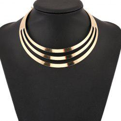 Punk Metallic Curved Mirror Mottle Necklace - GOLDEN