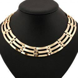 Statement Hollow Out Multilayer Necklace -
