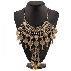 Chic Rhinestone Water Drop Spiral Necklace For Women -