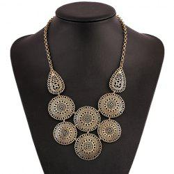Retro Round Hollow Out Necklace