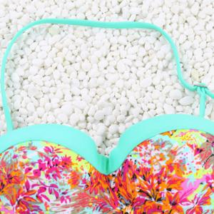 Vintage Halter Hollow Out Flower Print Bikini Set For Women - LAKE GREEN S