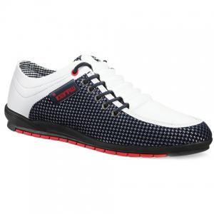 Fashionable Splicing and Colour Block Design Casual Shoes For Men - White - 43
