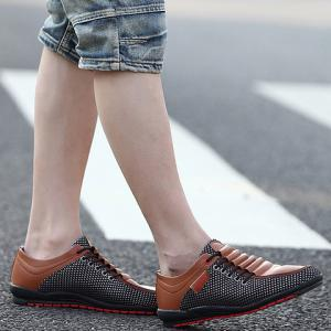 Fashionable Splicing and Colour Block Design Casual Shoes For Men -