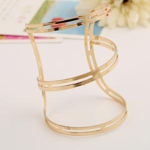 Irregular Hollow Out Cuff Bracelet -