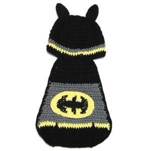 High Quality Hand Knitting Photography Bat Shape Baby Clothes Suits - Black - 110*160cm