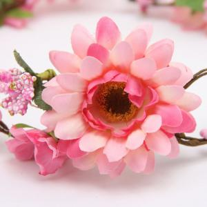 Chic Vivid Flower Embellished Wreath Headband For Women -