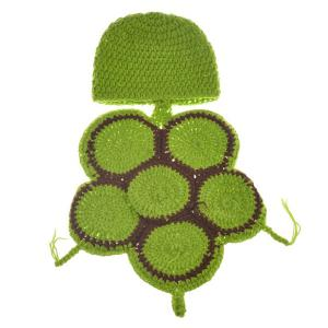 Fashion Tortoise Style Handmade Crochet Knitting Beanie Hat Clothes Set For Baby -