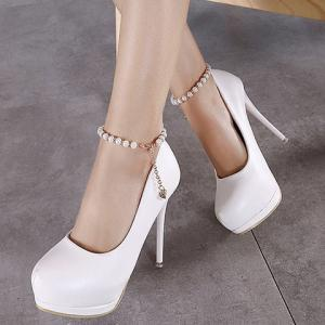 Elegant Beading and Platform Design Pumps For Women -