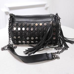 Trendy Metal and Tassels Design Crossbody Bag For Women -