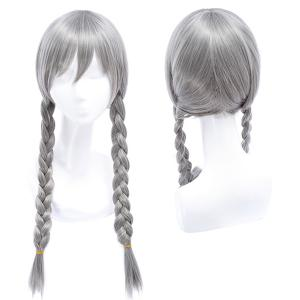 Sweet Long with Double Braided Smoky Gray Movie Zootopia Judy Hopps Cosplay Wig -