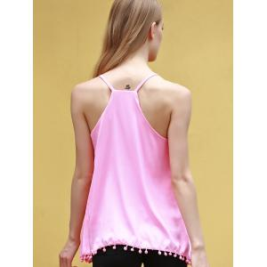 Endearing Solid Color Pendant Design Chiffon Tank Top For Women -