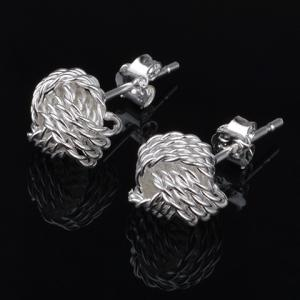 Vintage Hollow Out Stud Earrings - SILVER