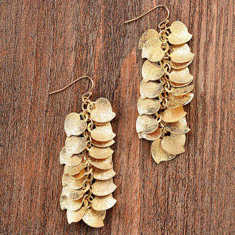 Cheap Pair of Chic Frosted Heart Drop Earrings For Women