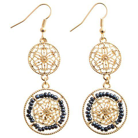 Outfits Pair of Chic Beads Hollow Out Drop Earrings For Women CADETBLUE