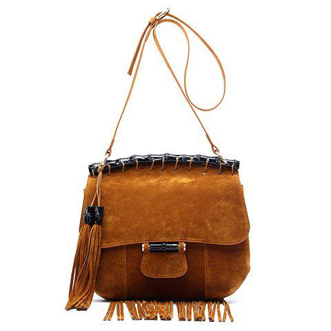 Affordable Leisure Fringe and Suede Design Crossbody Bag For Women