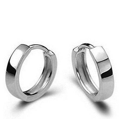 Cheap Pair of Simple Style Alloy Hoop Earrings For Women