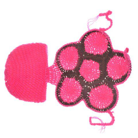 Fancy Fashion Tortoise Style Handmade Crochet Knitting Beanie Hat Clothes Set For Baby - ROSE  Mobile