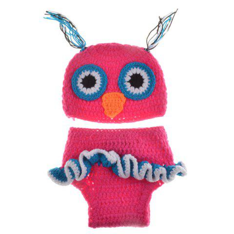 Store Chic Quality Newborn Wool Knitting Owl Design Baby Costume Hat+Shorts Suits